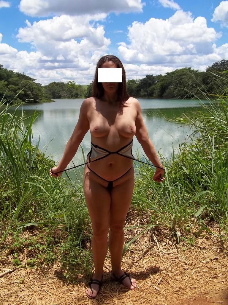 Raquel putinha tirando a roupa na represa